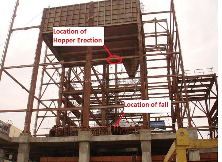 Failure Of Rope During Hopper Erection
